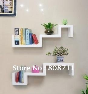 1pc Wall Mount Bookshelf Shelf Dvd Rack Home Decoration DIY In Bookcases From Furniture On Aliexpress