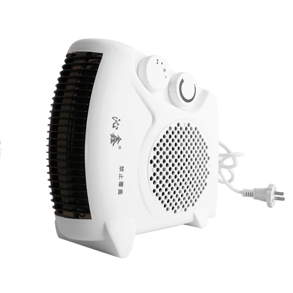 Mini Portable Electric Heater Bathroom Warm Air Blower Fan Home Heater Adjustable Thermostat 800W for Household Use US Plug electric fan stand fan home use mechanical desktop remote air blower timer mute household dormitory timing shekehead eu us plug