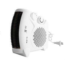 цена на Mini Portable Electric Heater Bathroom Warm Air Blower Fan Home Heater Adjustable Thermostat 800W for Household Use US Plug