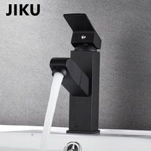 JIKU Full Copper Basin Faucet Black Brass Retro Bathroom Sink Faucet Single Handle Swivel Spout Kitchen Deck Vessel Mixer Tap