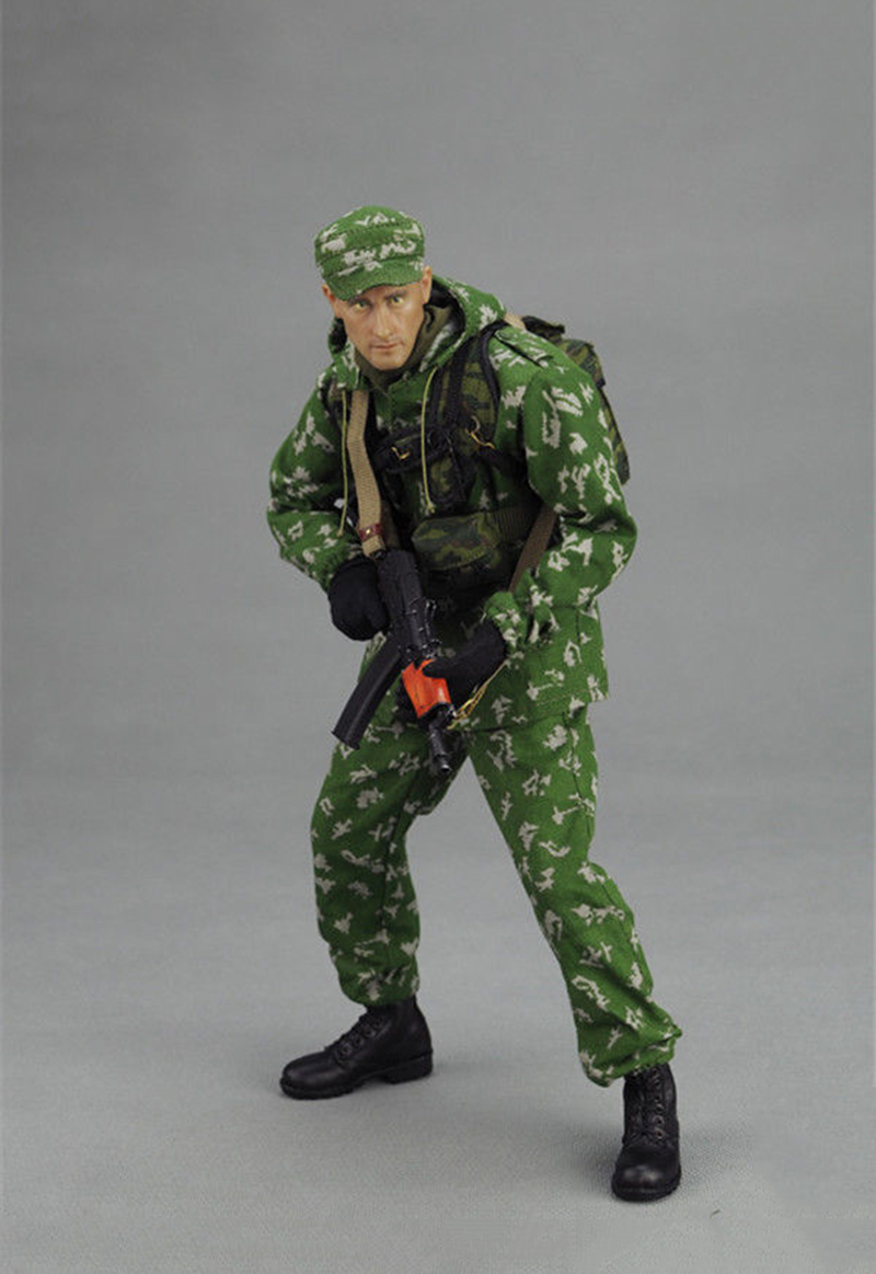 1/6 Russian VDV Scout Soldier Clothes Weapon Models Equipments Set For 12 Inches Action Figures Bodies 1 6 scale russian vdv scout soldier limited clothing weapon models equipment set for 12 inches action figures