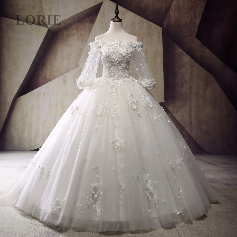 Buy victorian gothic wedding dress 2017 for Boat neck long sleeve wedding dress