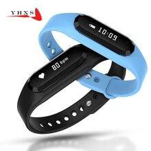 Новинка 2017 года смарт-браслет монитор сердечного ритма Bluetooth группа шагомер 0.69 'Экран Спорт браслет здоровья фитнес-трекер часы