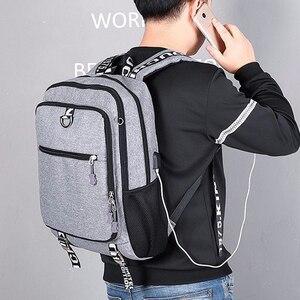 Image 4 - Erkek sırt çantası erkek su geçirmez USB şarj seyahat okul spor sırt çantası oxford rahat dizüstü sırt çantası rahat erkek çanta paketi