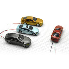 Teraysun 50pcs new style 1:100 mini scale model car plastic toy with LED light
