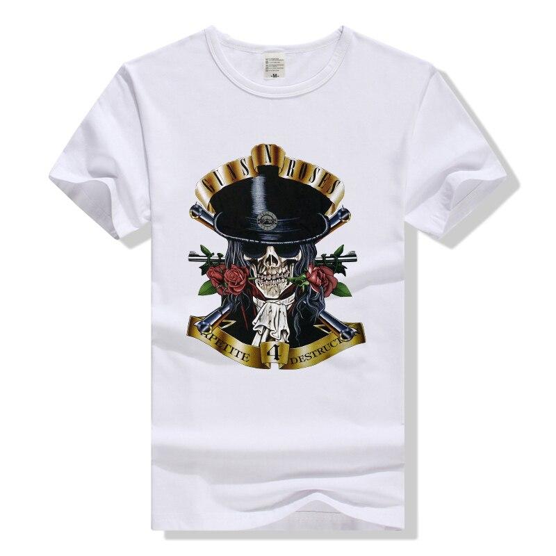 Guns n Roses T Shirt Slash Appetite for Destruction Tee rock band mężczyzna kobiet koszulka clothing czaszki tshirt pistolety i róże