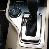 BENKE car cover styling 1pcs For 2016 Ford Everest stainless steel gear shift level platform button knob moulding trim