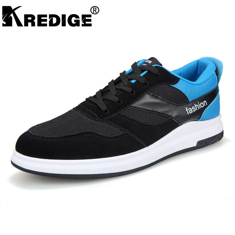 KREDIGE Breathable Mesh Men's Casual Shoes Non-Slip Soles Hard-Wearing canvas shoes male Adjustable Lace Up Plate shoes 39-44 kredige anti odor zip tide leather shoes hard wearing mens casual shoes pu breathable waterproof plate shoes british style 39 44