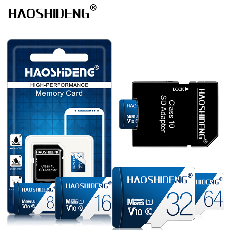 Top Quality Micro SD Card 128GB Memory Card 64GB MicroSD 16GB 8GB 4GB Flash Card Cartao De Memoria C10 TF Cards Free Shipping