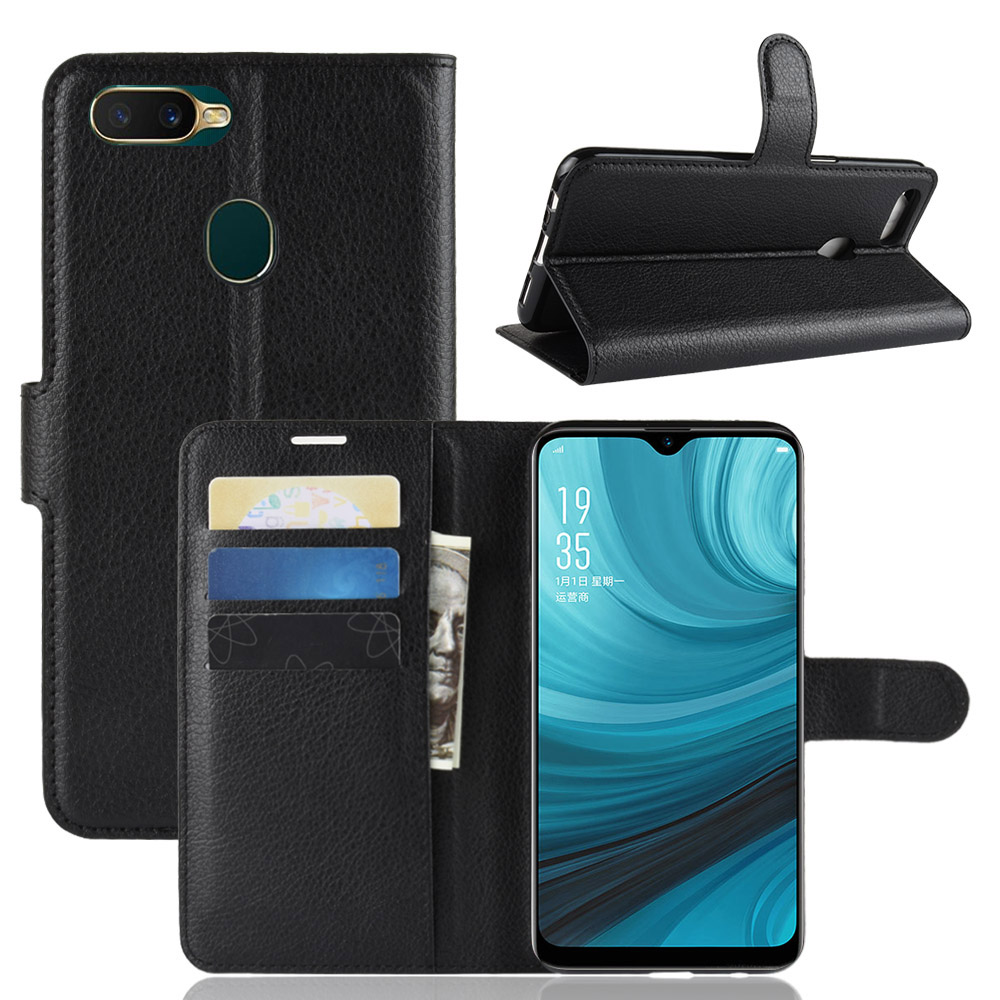 Flip Leather Case For LG V50 ThinQ 5G G8 ThinQ K40 Stylo 5 Wallet With Card Hlder OPPO A7 AX7 Covers image