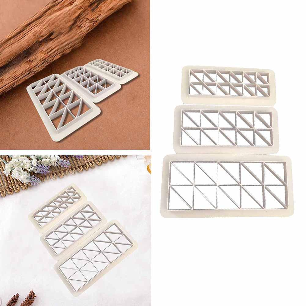 Image 4 - 3Pcs Square Geometric Cutters Fondant Cookie Geometry Cake Fondant Mold Cake Decorating Tools Baking Accessories-in Cake Molds from Home & Garden