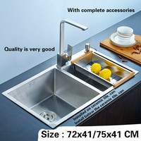 Free Shipping Kitchen Sink Double Trough 304 Stainless Steel Durable Hand Made Hot Sell 720x410 750x410