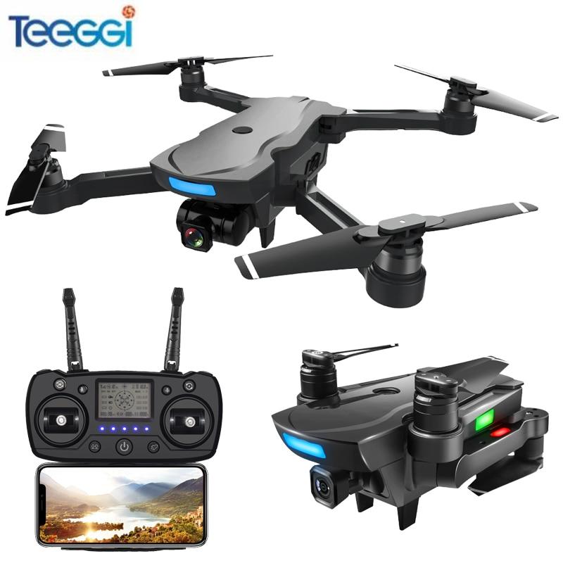 Teeggi CG033 Brushless GPS FPV RC Drone Avec 1080 p HD WiFi Cardan Caméra Ou Pas de Caméra RC Hélicoptère Pliable quadcopter GPS Dron