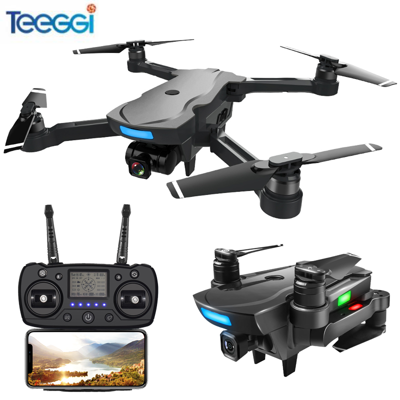 Teeggi CG033 Brushless GPS FPV RC Drone With 1080P HD WiFi Gimbal Camera Or No Camera RC Helicopter Foldable Quadcopter GPS Dron cg033 dron follow me brushless motor rc drone with 1080p camera no wifi fpv long fly time rc helicopter pk aosenma cg035 s70w