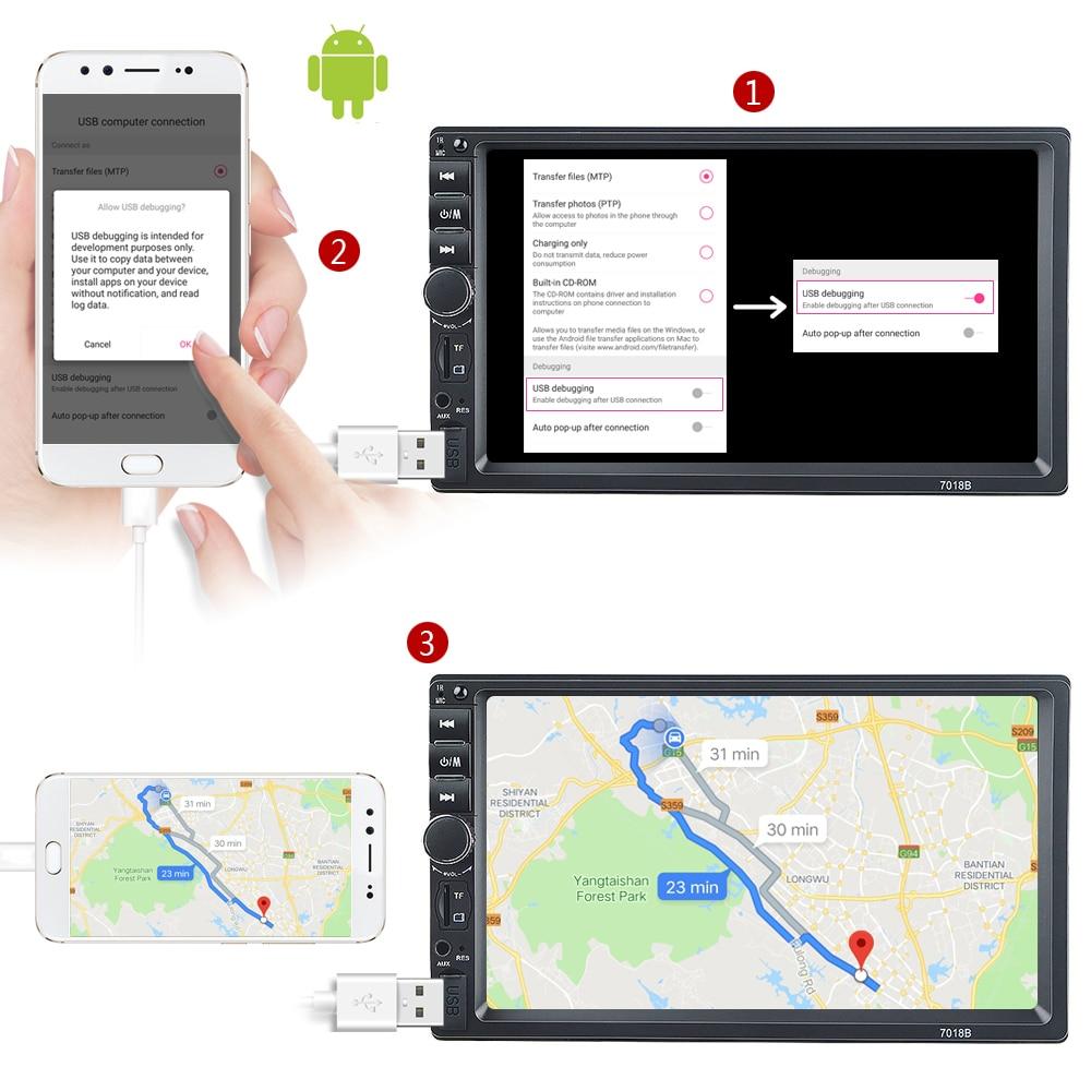 HD 7″ autoradio 2 din car radio coche recorder Touch Screen car
