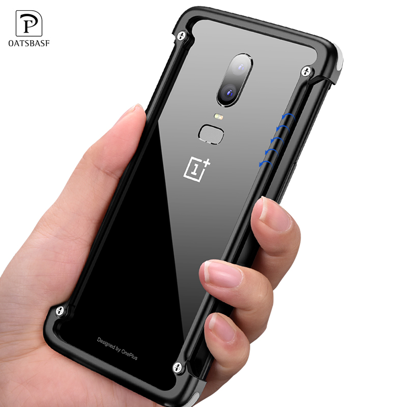 OATSBASF for One plus 5T Case Personality 5T luxury Original Airbag Shell Metal Bumper Cover For One plus 6 Airbag Metal CaseOATSBASF for One plus 5T Case Personality 5T luxury Original Airbag Shell Metal Bumper Cover For One plus 6 Airbag Metal Case