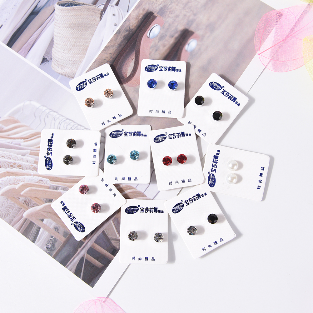 1 Pair Magnetic Therapy Weight Loss Earrings Magnet In Ear Eyesight font b Slimming b font