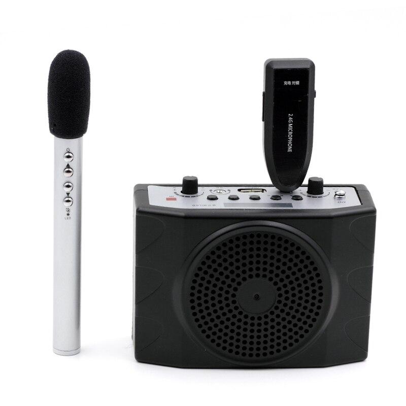 Oxlasers portátil 2.4g sem fio megafone e sistema de microfone com controle remoto fm para o professor guia turístico e conferência