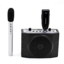цена на OXLasers Portable 2.4G Wireless Megaphone and Microphone system with remote control FM  for tour guide teacher and conference