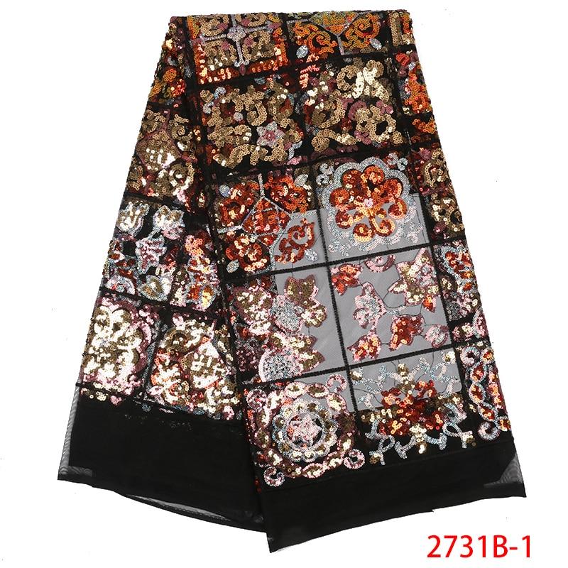 Ev ve Bahçe'ten Dantel'de Sequins dantel kumaşlar afrika fransız tül örgü dantel moda nijeryalı Net dantel akşam parti için son fransız örgü dantel APW2731B'da  Grup 1