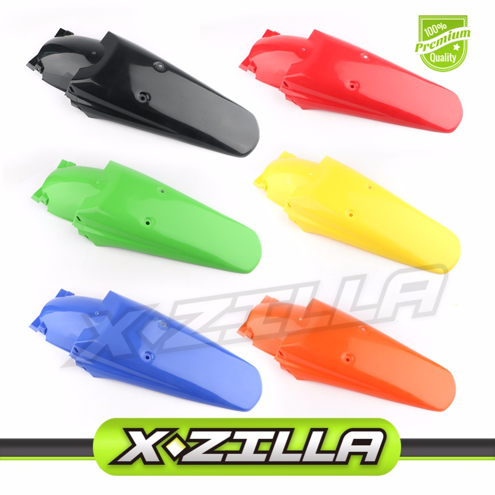 Universal Rear Nudguard Plastic Cover Rear Fender for Motorcycle Motorcross DRZ400 RMX250 DT125 200 230WR