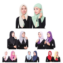 1 pc popular Malaysia style women plain bubble chiffon scarf hijab wrap solid color double face muslim hijabs scarves/scarf