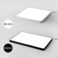 Minimalist Rectangle Modern Led Ceiling Lights For Living Room Ultra Thin Black White Chandelier Ceiling Lamp