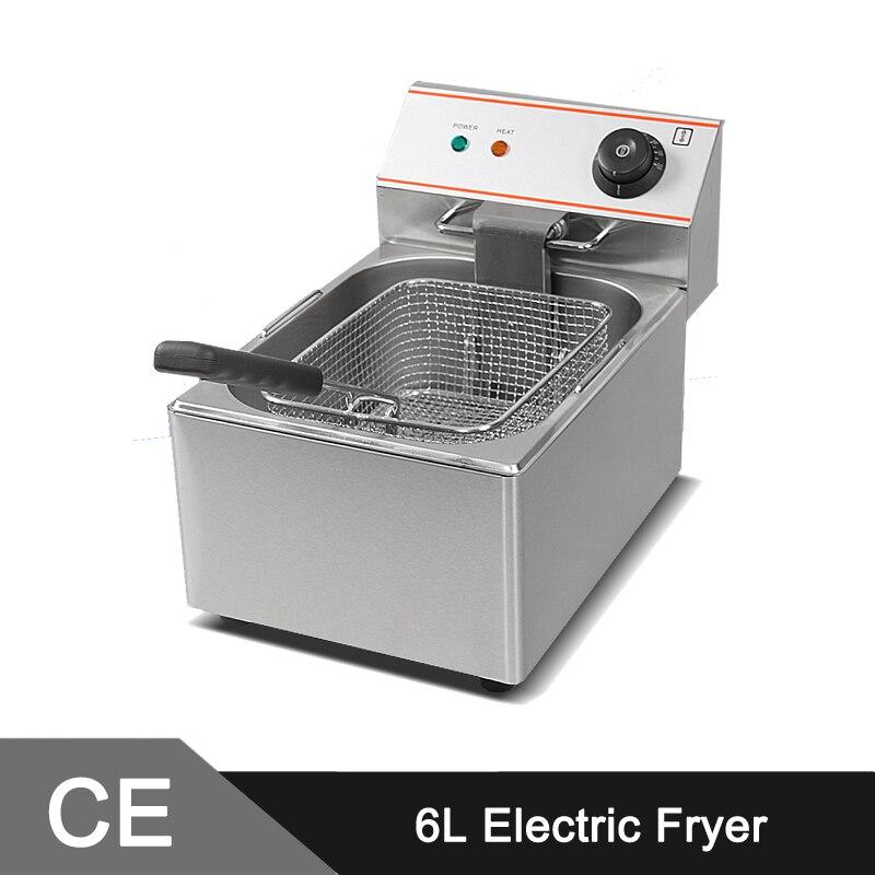 6L Electric Commercial Deep Fryer Single Tank Single Basket ...