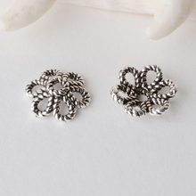 Solid 925 Sterling Silver flower Bead Caps ,Thai Silver Twisted Flower Spacer Beads Findings for Jewelry(China)