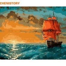 Набор для рисования по номерам на холсте восход солнца Морская
