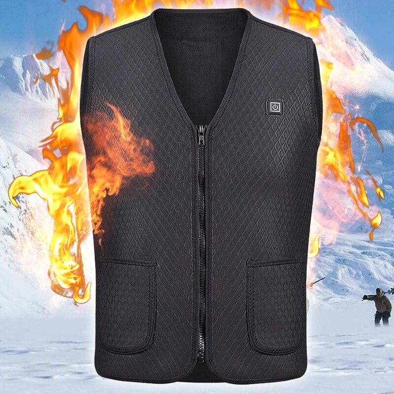 Calentador de chaleco de caza chaqueta climatizada calefacción ropa de invierno hombres térmica al aire libre chaleco sin mangas senderismo escalada pesca