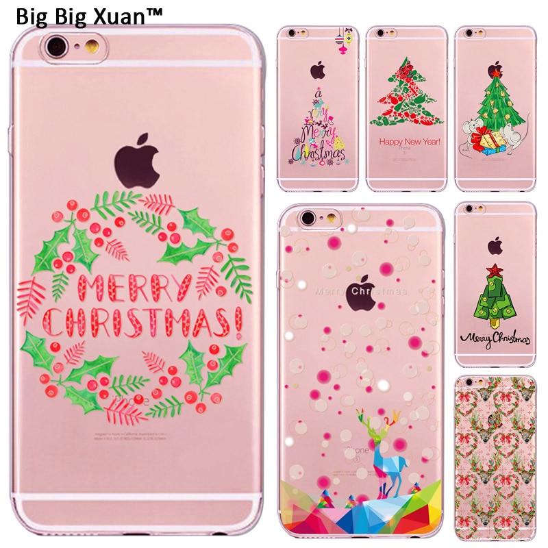 Christmas Decoration Cute Cat Owl Elk Animals Design Cases For iPhone 7 5 5s 6 6s