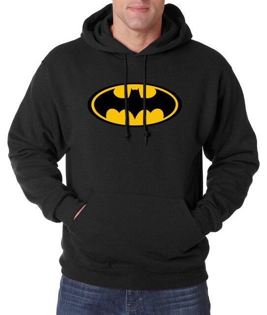 Hot Sale Batman sweatshirt men hooded 2016 autumn winter new fashion casual hoodies men fleece slim fit men's tracksuit S-2XL