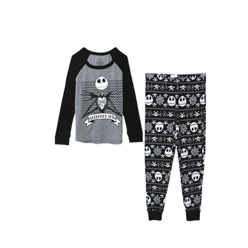 Pesadelo antes do natal jack skellington pijama sono conjunto de topo e calças pijamas causal adlut ternos cosplay trajes