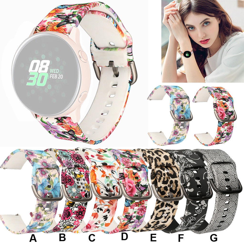 Strap Replacement Wrist-Band Watch Samsung for Galaxy 42mm/active 40mm Silicone 40mm