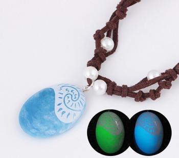 Оригинальная светодиодная игрушка в виде кинофильма vaiana Moana, ожерелье с подвеской из плетеной кожи, ручной работы, маскарадная модель, игрушка для детей