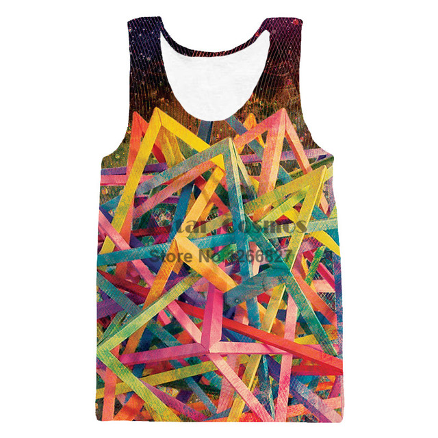 03033f7d089 US $8.27 30% OFF|PLstar Cosmos Color Explosion Colorful Vest Popular Men  Women 3d Tank Top Style Tank Tops Plus Size Drop Shipping-in Tank Tops from  ...