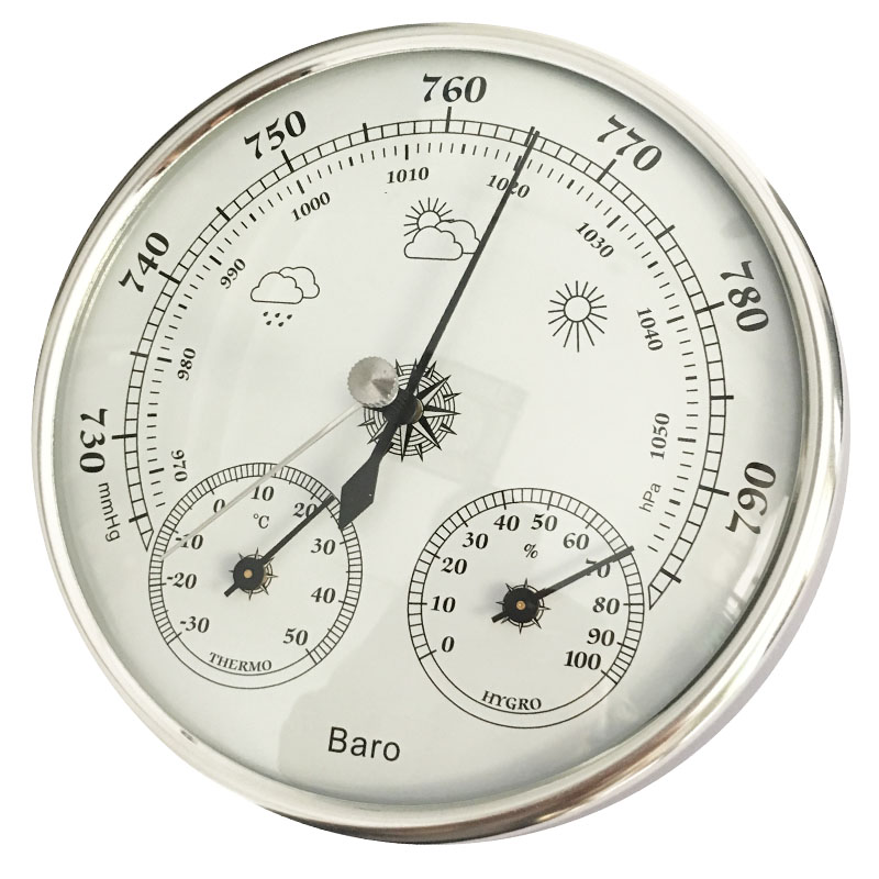 Free Shipping High Accuracy 5 Inches Household Weather Station Barometer Thermometer Hygrometer Wall Hanging Tester Tools 3 in 1 multifunctional household weather station barometer thermometer hygrometer wall hanging hot selling 2017 9a30065