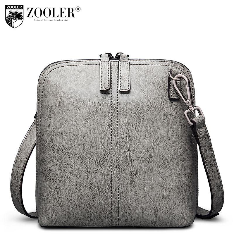 ZOOLER 2018 Spring Fashion Small Shell Shoulder Bag Ladies Casual Genuine Leather Crossbody Messenger Bags Bolsa Feminina Couro zooler brand genuine leather shoulder bags for women casual messenger bag ladies small cowhide leather crossbody bags sac a main