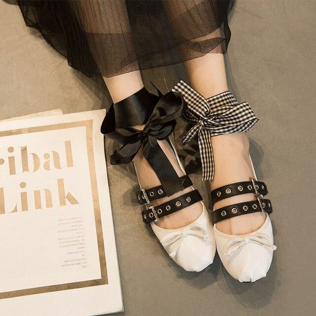 Enredaderas Zapatos Guante Apresurado 2016 Marca Nuevas zapatillas de Ballet Dulce Doble Moda Bailarinas Alpargatas Zapatos