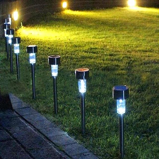 Set of 10 Solar Energy Lawn LED Lamps