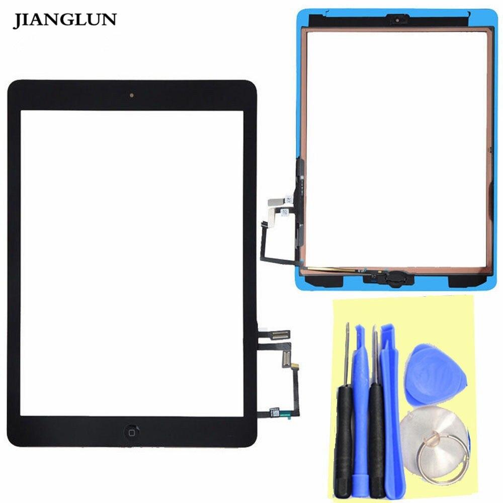 JIANGLUN For Apple iPad Air 5 Touchscreen Glas Digitizer Frontscheibe Home flex Button Kleber Black glas 2 1991