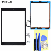 For Apple iPad Air 5 Touchscreen Glas Digitizer Frontscheibe Home flex Button Kleber Black