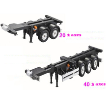 цена на 1/14 Scale 20FT 40FT Container Trailer Frame Aluminium Frame Kit for RC Tamiya Scania R620 Actros Trailer