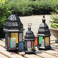 Moroccan Style Metal Castle Votive Candle Tea Light Holder Holder Candlestick Hanging Lantern Home Centerpieces