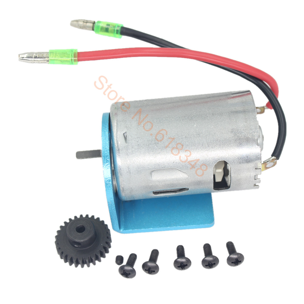 540 Motor Kit & Mount Electric Engine Metal Gear 27T For 1/18 WLtoys A959 Upgrade Parts Fit A949 A969 A979 K929 upgrade part metal reduction gear motor gear spare parts for wltoys a949 a959 a969 a979 k929 rc car remote control toy parts