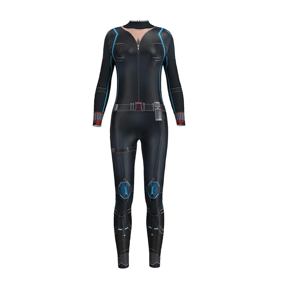 Avengers Superhero 4 Black Widow Jumpsuit Custom Made Outfit Halloween Costume for Women Natasha Romanoff Uniform Black Costume