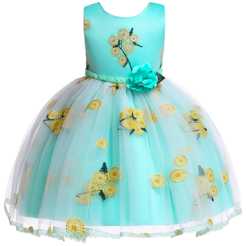 Flower     Girl     Dress   for   Girl   Lace Embroidery Princess   Dress   for Wedding Party Tutu Formal Kids   Dresses   for Toddler   Girl   Children