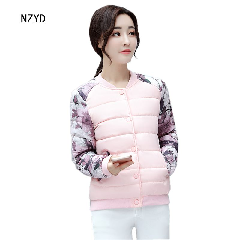 Autumn Winter Women Jacket 2017 New Fashion Warm Long sleeve baseball Parkas Casual Slim Big yards Female Short Coat LADIES273 2017 new winter fashion women down jacket hooded thick super warm medium long female coat long sleeve slim big yards parkas nz18