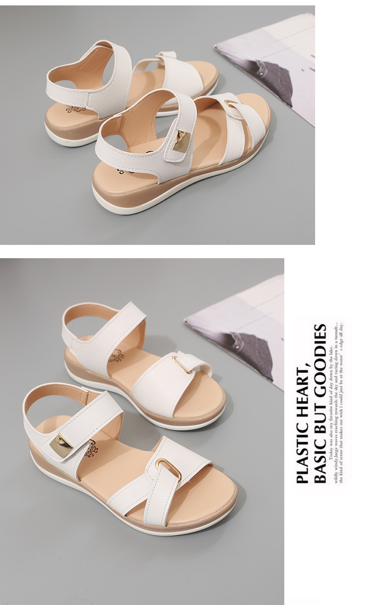 HTB1lE82XEjrK1RkHFNRq6ySvpXay Summer Women Sandals platform heel Leather hook loop metal Soft comfortable Wedge shoes ladies casual sandals V284